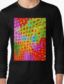 Abstract Watercolor Painting Long Sleeve T-Shirt