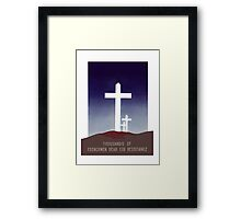 Thousands Of Frenchmen Dead For Resistance -- WW2 Framed Print