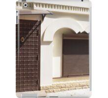 The facade of a small house iPad Case/Skin