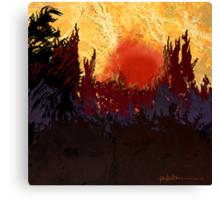 """""""Rising Sun  Canvas Print"""