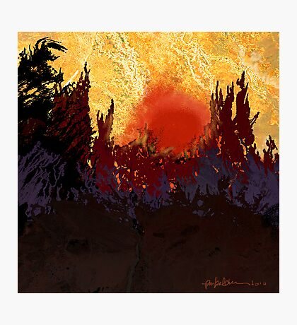"""Rising Sun  Photographic Print"