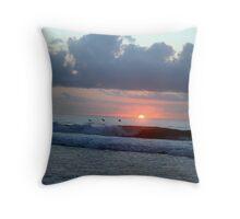 skimming @ sunrise Throw Pillow