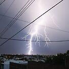 lightnig over the city by loyaltyphoto