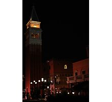 Bell Tower, Italy Court Yard at Epcot Photographic Print