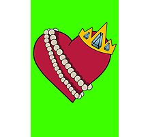 Queen of hearts geek funny nerd Photographic Print