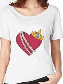 Queen of hearts geek funny nerd Women's Relaxed Fit T-Shirt