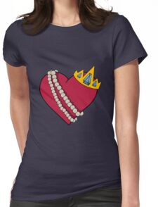 Queen of hearts geek funny nerd Womens Fitted T-Shirt