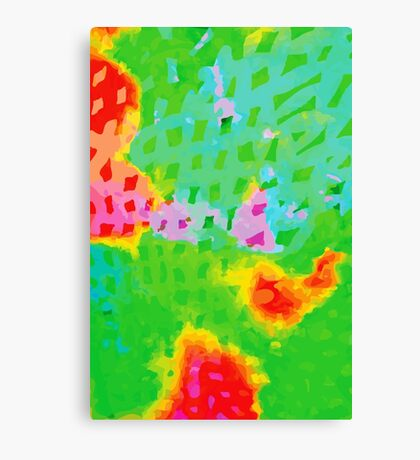 Colorful Abstract Watercolor Painting Background Canvas Print