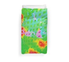 Colorful Abstract Watercolor Painting Background Duvet Cover