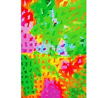 Multicolor Abstract Watercolor Painting Photographic Print