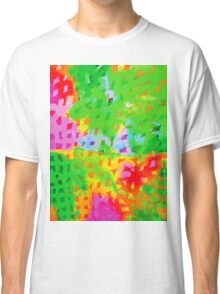 Multicolor Abstract Watercolor Painting Classic T-Shirt