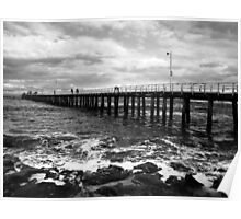 Point Lonsdale Pier on a stormy day Poster