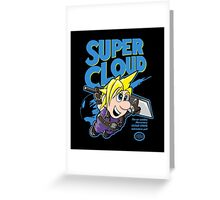 Super Cloud Greeting Card