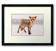 Fox Double Exposure Framed Print