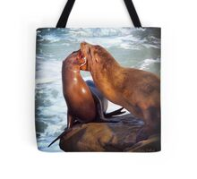 Sea Lions in La Jolla Cove Tote Bag