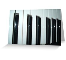 Piano In The Dark Greeting Card