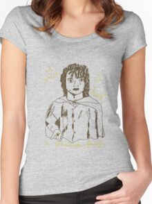 Frodo's wish Women's Fitted Scoop T-Shirt