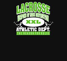 "Lacrosse Athletic Dept ""Weapons of Mass Destruction"" Unisex T-Shirt"