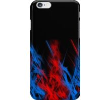 Blue & Red Flames iPhone Case/Skin