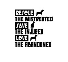 Rescue save love geek funny nerd Photographic Print