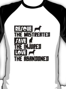 Rescue save love geek funny nerd T-Shirt