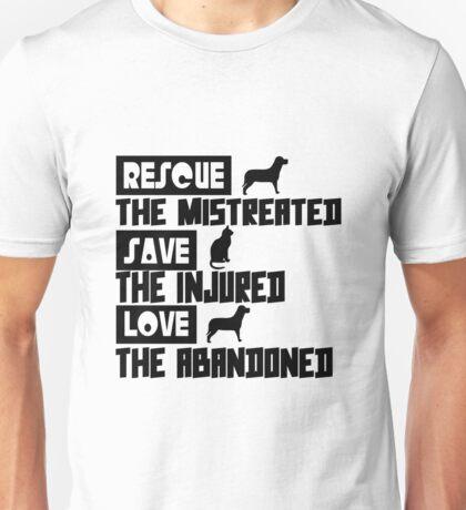 Rescue save love geek funny nerd Unisex T-Shirt