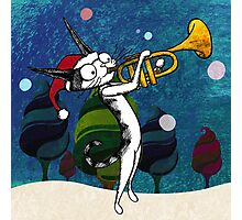 Cat with a trumpet Photographic Print