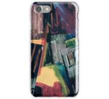 Diagonal Lines and a Window - Abstract Collage 15 iPhone Case/Skin