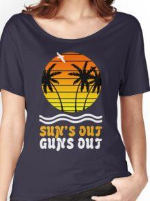 Suns out guns out suns geek funny nerd Women's Relaxed Fit T-Shirt