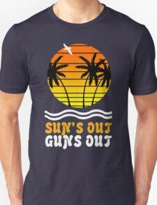Suns out guns out suns geek funny nerd Unisex T-Shirt