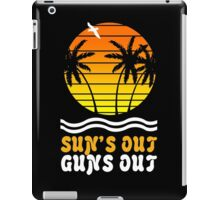 Suns out guns out suns geek funny nerd iPad Case/Skin
