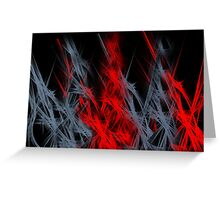 Red & Grey flames Greeting Card