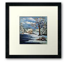 The Lake & Snow Framed Print