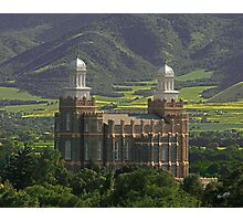 Logan Temple in Green Fields 20x24 Photographic Print
