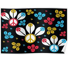 Peace Bumble Bees Poster