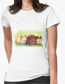 Good Luck Guinea Pigs I Womens Fitted T-Shirt
