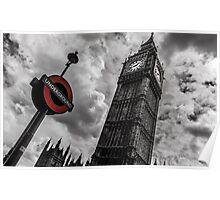 Big Ben vs Underground Poster