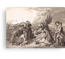 Death of General Wolfe 1759 Canvas Print