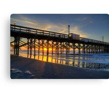 Apache Pier Sunrise_1 Canvas Print