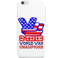 Two time back to back world war champs geek funny nerd iPhone Case/Skin