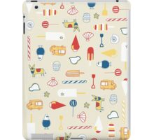 Cute objects ice cream, bus, umbrella, cow, candy  iPad Case/Skin