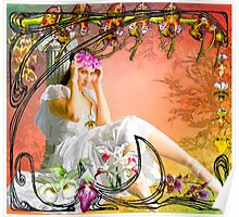 NOUVEAU ORCHID ~ DEDICATION TO GRANDMA ALBEE Poster