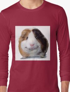 Keep Smiling with Angeelo the Guinea Pig! Long Sleeve T-Shirt