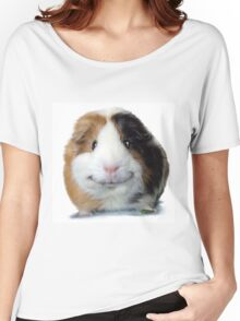 Keep Smiling with Angeelo the Guinea Pig! Women's Relaxed Fit T-Shirt