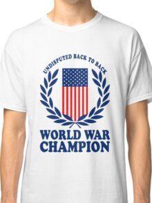Undisputed world war champions geek funny nerd Classic T-Shirt