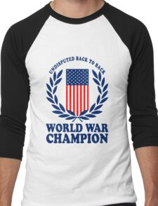 Undisputed world war champions geek funny nerd Men's Baseball ¾ T-Shirt