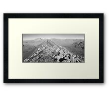 Beautiful day on the Ring of Steall Framed Print
