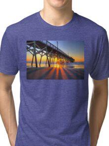 Surfside Beach Sunrays Tri-blend T-Shirt