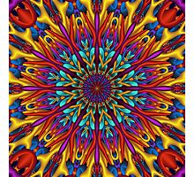 Amazing colors 3D mandala Photographic Print