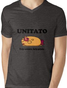 Unitato geek funny nerd Mens V-Neck T-Shirt